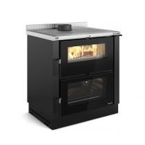 La Nordica Extraflame - Cucina a legna - Modello Verona XXL - Rivestimento Nero Antracite - Codice 7016250